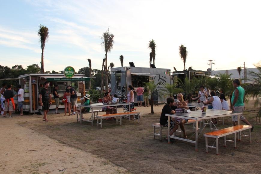 Litoral paulista recebe evento de food trucks durante o verão