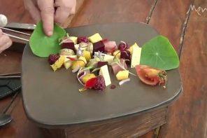 Em vídeo, o chef Marcos Livi prepara receitas com ingredientes de sua horta