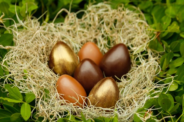 Os miniovos elaborados com chocolate de origem são sugestões da Cau Chocolates (foto: divulgação)