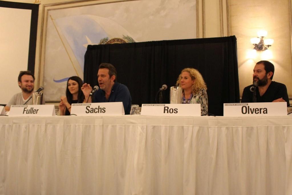 Da esq. para dir.: David Gelb, Abigail Fuller, Adam Sachs, Ana Ros e Enrique Olvera (foto: Marisa Furtado)