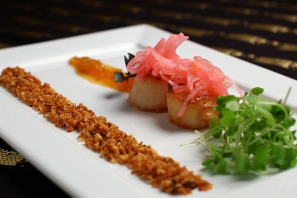 Vieiras ao saquê com farofinha de castanhas: uma das sugestões do chef Marcos Sodré (foto: divulgação)
