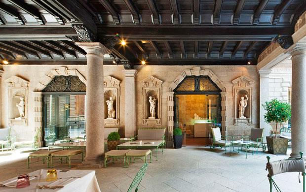 O charmoso salão do Il Salumaio