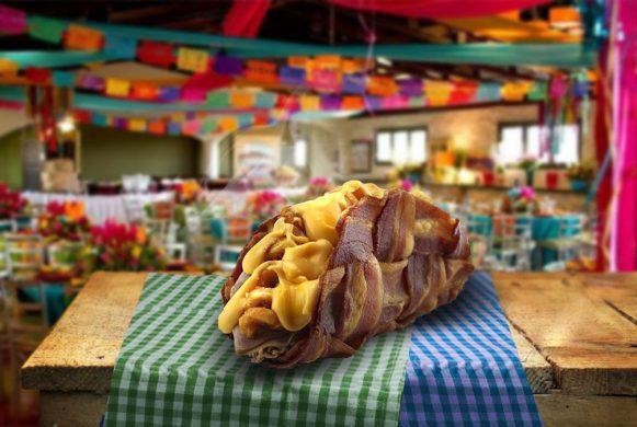 No taco, receita tipicamente mexicana, a tortilla de milho é substituída por fatias de bacon (R$ 25)