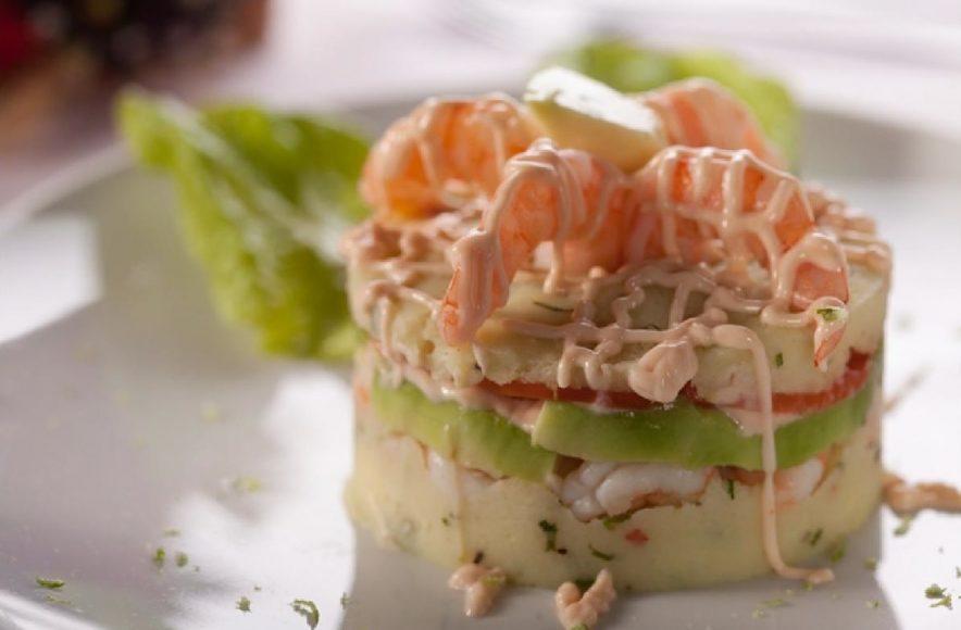Causa de camarões: uma das sugestões do restaurante Don Ralf, de Goiânia (GO) (fotos: divulgação)