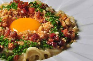Espaguete à carbonara da chef Heaven (Foto: Divulgação/Rio ArtCom)