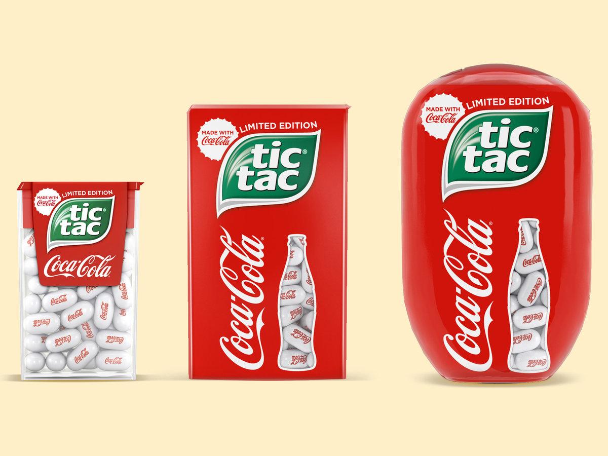 Coca-Cola e Tic Tac se unem para lançar balas mastigáveis em edição limitada