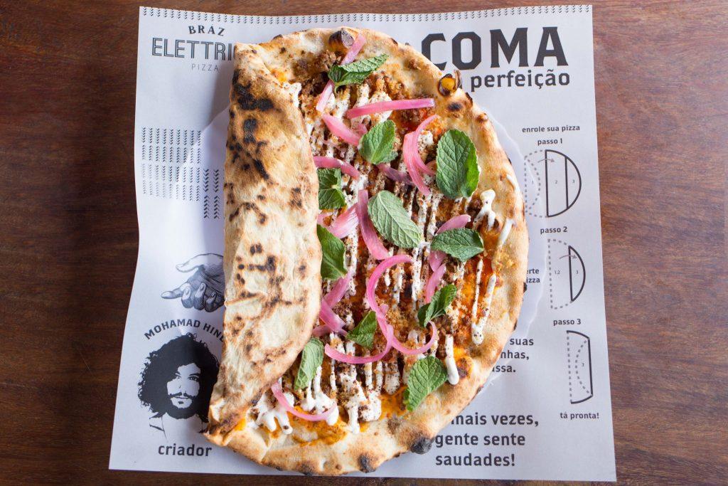 Bráz Elettrica lança pizza inspirada na culinária árabe
