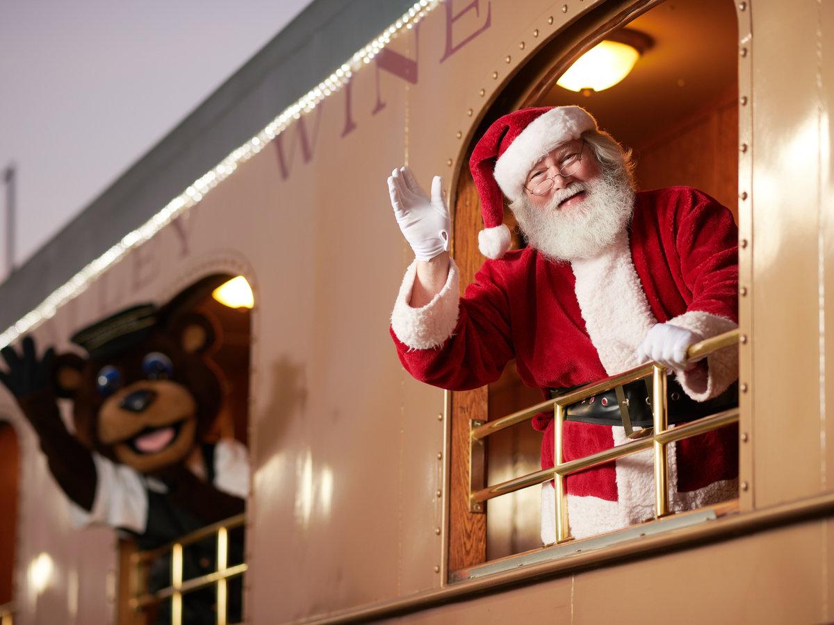 Edição natalina do trem do vinho em Napa Valley está de volta