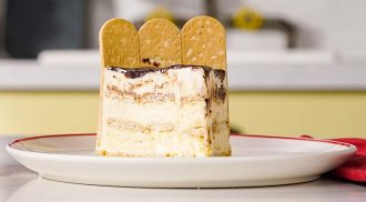 Torta rápida de sorvete é sobremesa para fazer no fim de semana. Foto: Divulgação