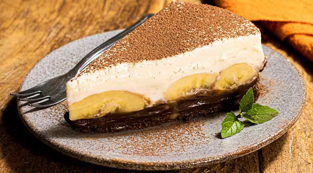Torta banofee com chocolate fica pronta em apenas 40 minutos. Foto: Divulgação