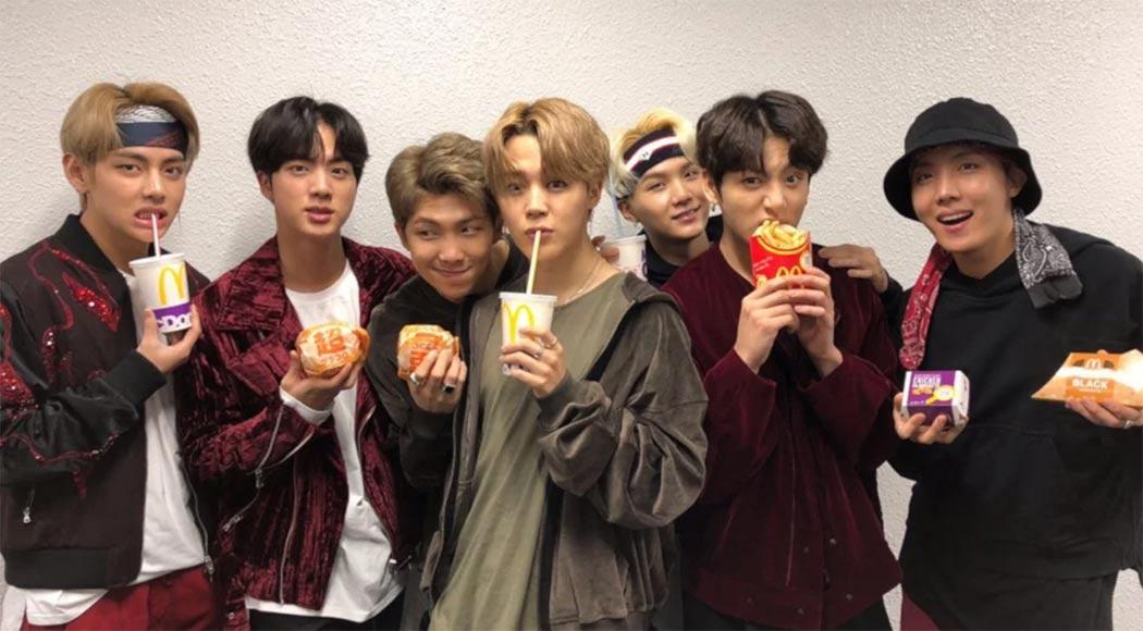 McDonald's cria prato inspirado na banda de k-pop BTS - Revista Menu