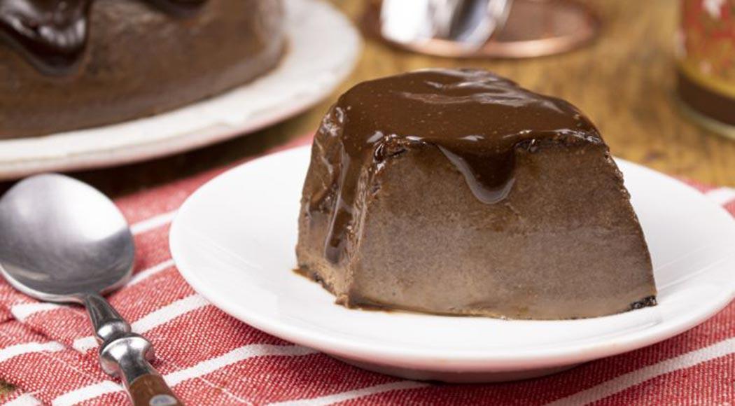 Receita simples de pudim de chocolate meio amargo